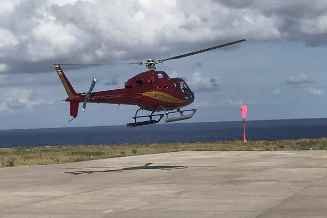saba island helicopter